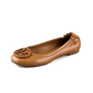 Tory Burch Reva Tumbled Leather Ballet Flats 8